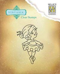 Nellie Snellen clear stamp Vintasia Cute Ambition 002 (Locatie: NN284 )