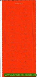 Pop-outs vlinder 2 stuks oranje SPS8813 (Locatie: J271 )