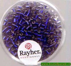 Rayher stiftkralen 2x2 mm donkerblauw met zilverdetail 16 gr. 1430110 (Locatie: 3RL5 )