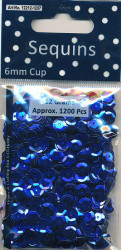 Sequins Regular Blue Cup 12212 1207 (Locatie: 1d )