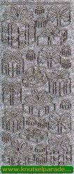 Starform sticker glitter zilver/goud 7029 (Locatie: i319 )