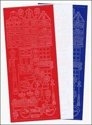 Starform stickervel pakketje3x1 Holland huisje 91016/1 (Locatie: i417 )