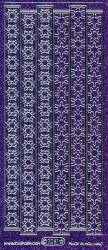 Starform stickervel stroken glitter violet/zilver 7081 (Locatie: U042)