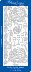 Starform stickervel wijn goud 1066 (Locatie: J241)