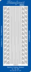 Starform stickevel kerstmis zilver 983 (Locatie: K052)