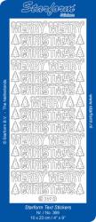 Starform zilver merry christmas 369 (Locatie: Q129 )