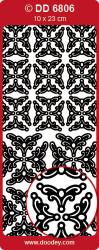 Sticker zilver hoekjes DD6806 (Locatie: S140)