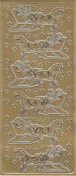 Stickervel arreslee goud 20380/1801 (Locatie: A316)