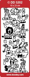 Stickervel goud circus DD5202 (Locatie: C223)