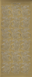 Stickervel goud kerstmannetje DD7083 (Locatie: K200)