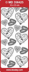 Stickervel huwelijk goud MD356425 (Locatie: A003)