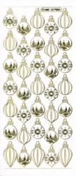 Stickervel kerstballen goud transparant MD357005 (Locatie: S147 )