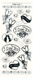 Stickervel liefde transparant zilver MD356301 (Locatie: A009)
