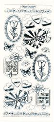 Stickervel liefde transparant zilver MD356304 (Locatie: A020)