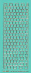 Stickervel mintgroen/goud nr. 3020 (Locatie: K152)