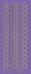 Stickervel paars/goud nr. 3019 (Locatie: K134)