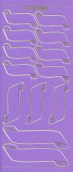 Stickervel paars labels XP6461 (Locatie: f010)