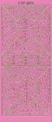 Stickervel roze/goud XP6874 (Locatie: K092)