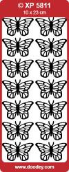 Stickervel vlinders blauw holografisch XP5811 (Locatie: zz128)