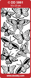 Stickervel vlinders zilver DD5861 (Locatie: G119)