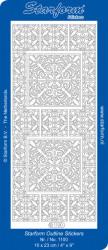 Stickervel zilver hoekjes 1100 (Locatie: j402)