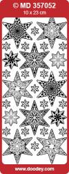 Stickervel zilver kerst MD357052 (Locatie: ZZ010)