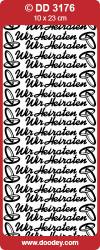 Stickervel zilver Wir Heiraten DD3176 (Locatie: A018 )