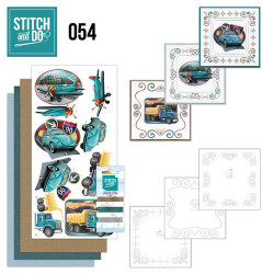 Stitch and Do 54 Vintage Vehicles STD054