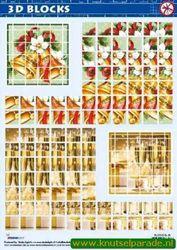 Studio Light 3D blocks stansvel kerst SL06 (Locatie: 1748)