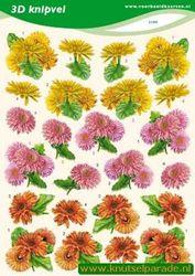 Voorbeeldkaarten knipvel bloemen 2189 (Locatie: 4820)