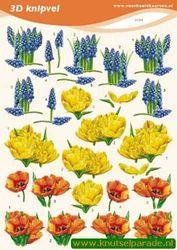 Voorbeeldkaarten knipvel bloemen 2190 (Locatie: 4820)