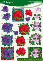 Voorbeeldkaarten knipvel bloemen 2351 (Locatie: 437)