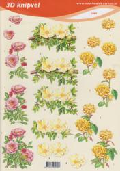 Voorbeeldkaarten knipvel bloemen nr. 2069 (Locatie: 5006)