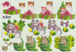 Voorbeeldkaarten knipvel katten 8740 (Locatie: 0217)