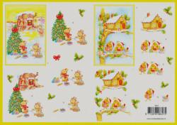 Voorbeeldkaarten knipvel kerstmis 8657 (Locatie: 1601)