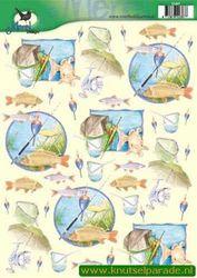 Voorbeeldkaarten merel design vissen 2387 (Locatie: 6630)