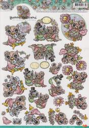 Yvonne Creation's knipvel uilen HJ10901 / CD10359 (Locatie: 4801)