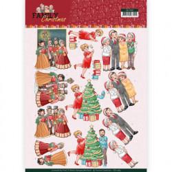 Yvonne Creations knipvel kerstmis met de familie CD11389 (Locatie: 5564)