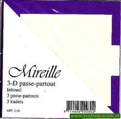 Mireille vierkante kaart paars 13,5 cm x 13,5 cm 3 stuks 2110 (Locatie: D91 )