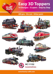Hearty Crafts Easy 3D Toppers - Locomotives HC11152 (Locatie: K2)