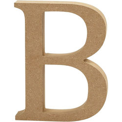 Letter B, hoogte 13 cm, dikte 2 cm, MDF, 1stuk (Locatie: KB)