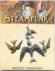 Steampunk bedels vogels STEAM010 (Locatie: K3)