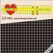 Hartho-bby foampads zwart 2,0 mm dik 64022 (Locatie: K2)