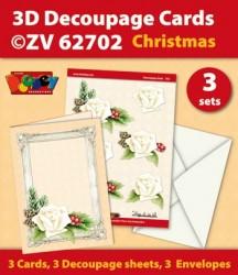 Doodey kaartenpakket om 3 kerstkaarten te maken ZV62702 (Locatie: 4420)