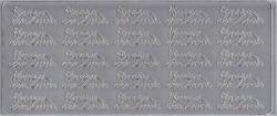 Stickervel zilver Hoera een zoon 1665 (Locatie: B218)