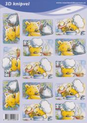 Voorbeeldkaarten knipvel koken nr. 2067 (Locatie: 5006)