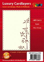 Doodey oplegkaarten bamboe A6 ivoor 3 stuks BPC5613 (Locatie: H333)