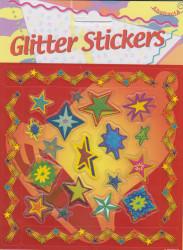 Abstracta glitter stickers sterren (Locatie: 0922)