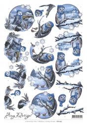 Amy Design knipvel uilen winter CD11233 (Locatie: 0719)
