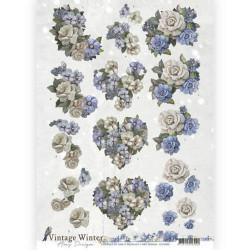 Amy Design knipvel winter flowers CD10985 (Locatie: 4512)